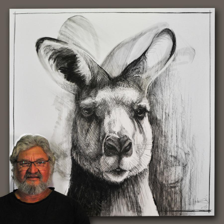 Portrait of Kangaroo 16A by Michael Chorney