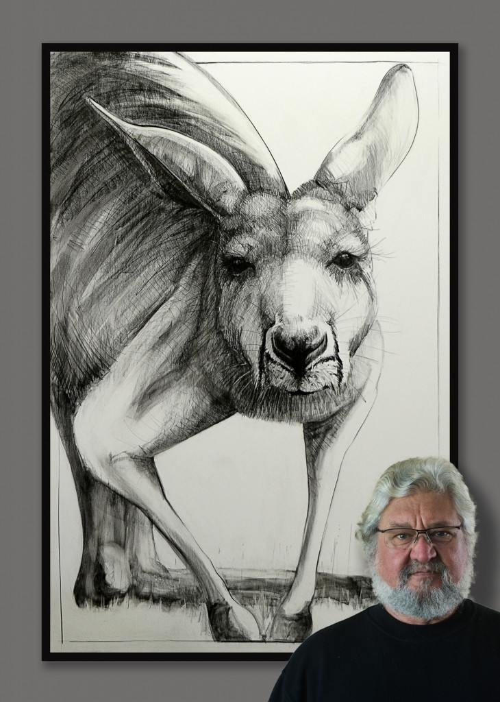 Drawing of Kangaroo 27 by Michael Chorney Ⓒ