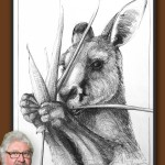 Portrait of Kangaroo 45 by Michael Chorney