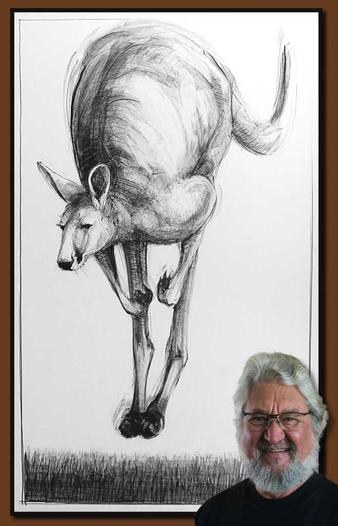Drawing-of-Kangaroo-53 with Michael Chorney