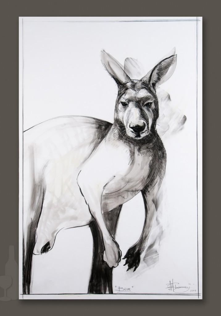 Kangaroo drawing 1 by Michael Chorney