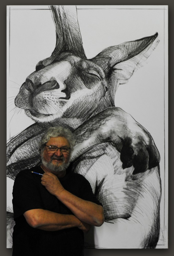 Kangaroo drawing 11 by Michael Chorney