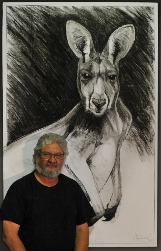 Kangaroo drawing 12 by Michael Chorney