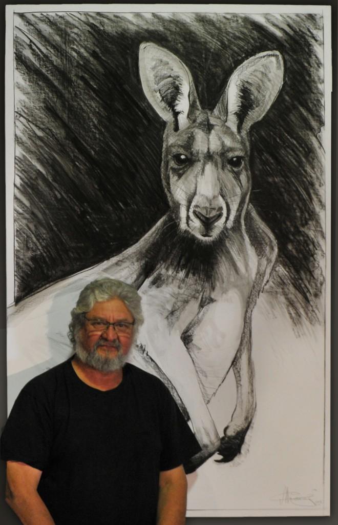 Kangaroo drawing 12 by Michael Chorney