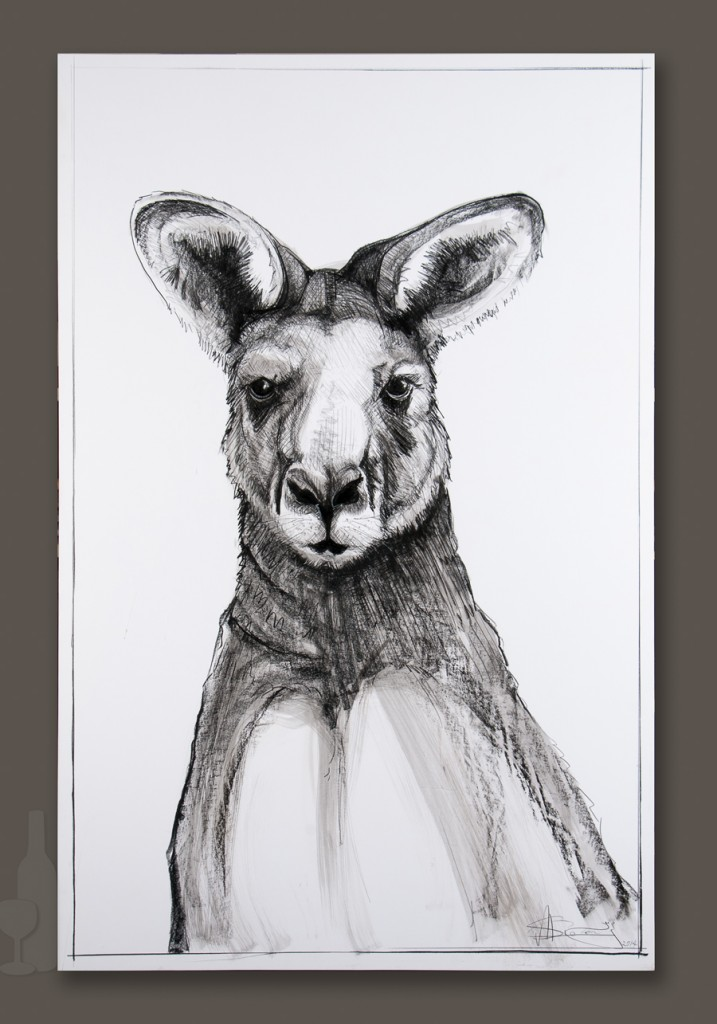 Kangaroo drawing 5 by Michael Chorney