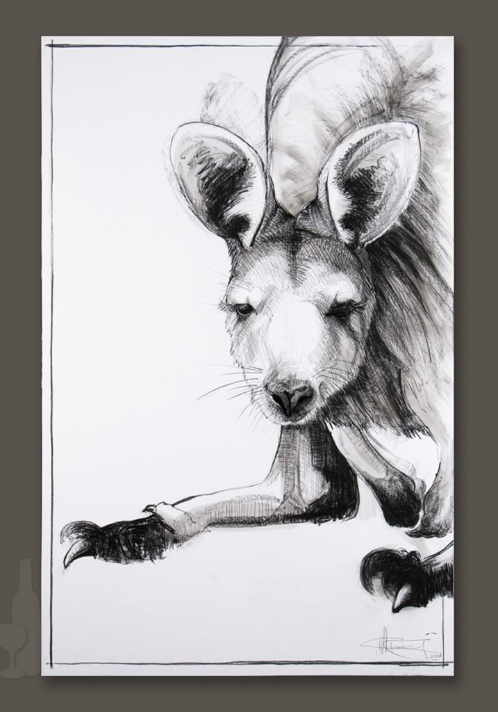 Kangaroo drawing 7 by Michael Chorney