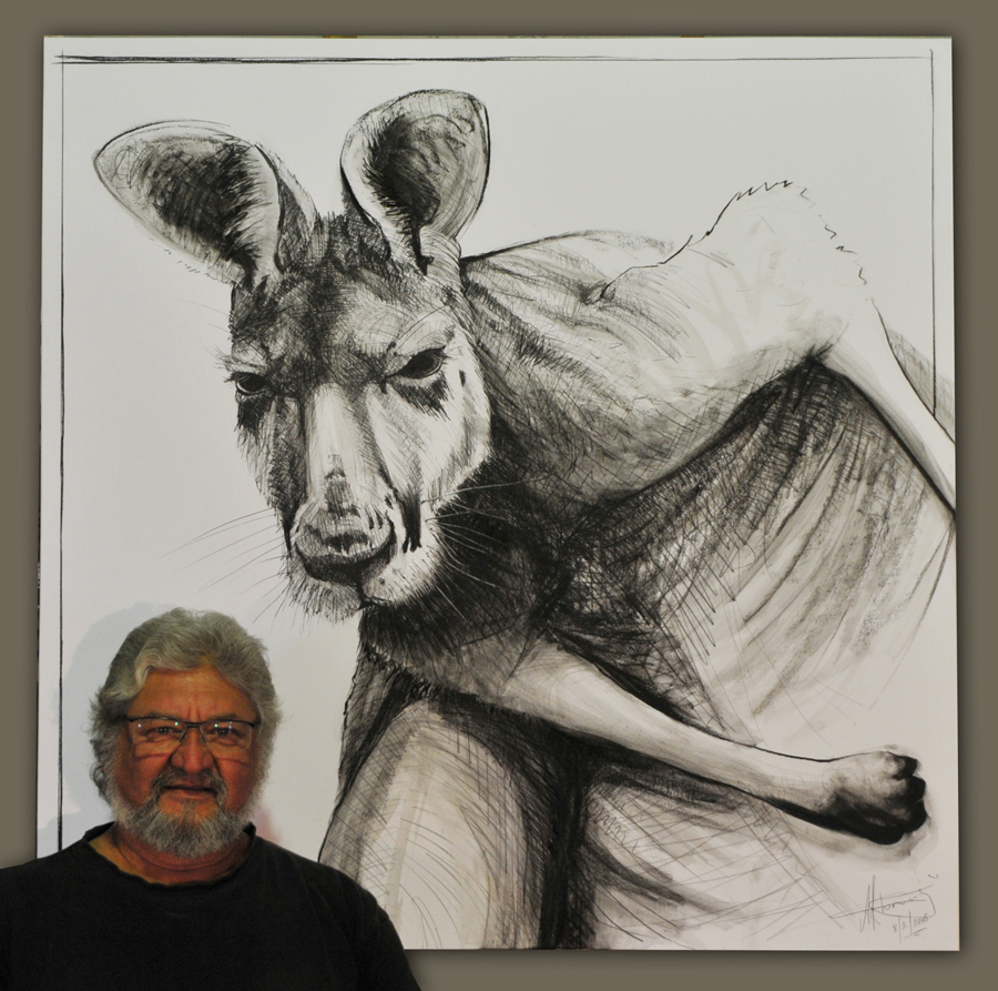 Drawing of Kangaroo 14 by Michael chorney